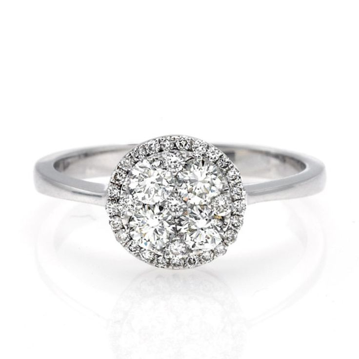 Simple Cluster Engagement Rings for Those who Are on a Budget