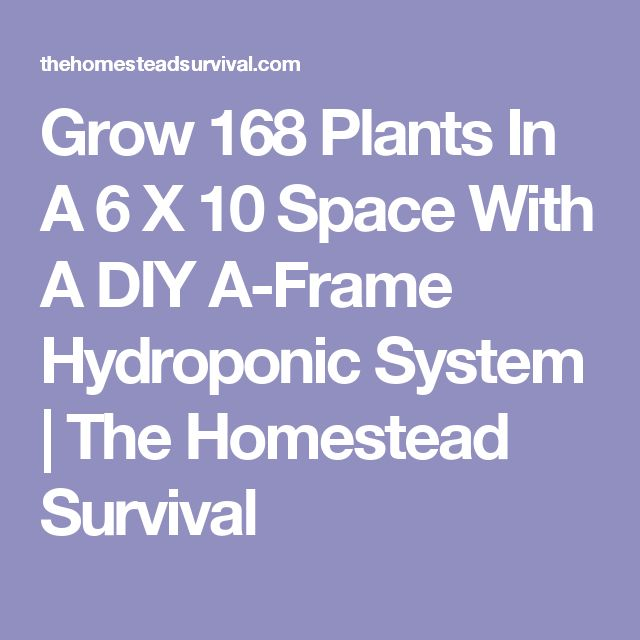 Grow 168 Plants In A 6 X 10 Space With A DIY A-Frame Hydroponic System | The Homestead Survival