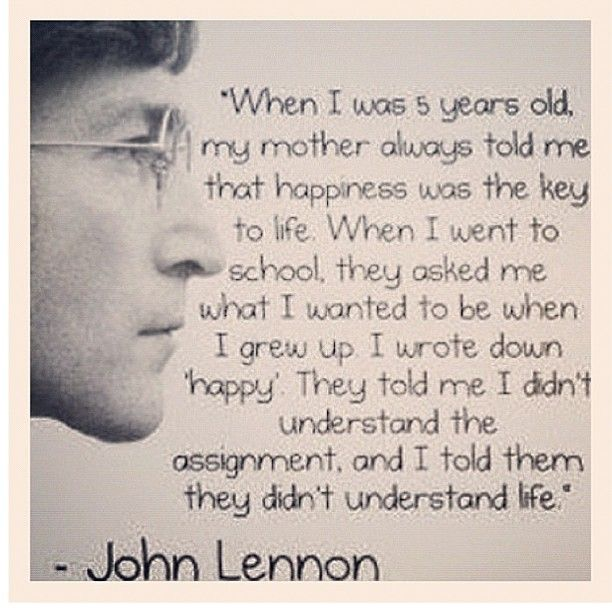 John Lennon Quotes About Life And Happiness: John Lennon