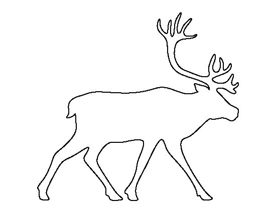 Caribou pattern. Use the printable outline for crafts, creating stencils, scrapbooking, and more. Free PDF template to download and print at http://patternuniverse.com/download/caribou-pattern/