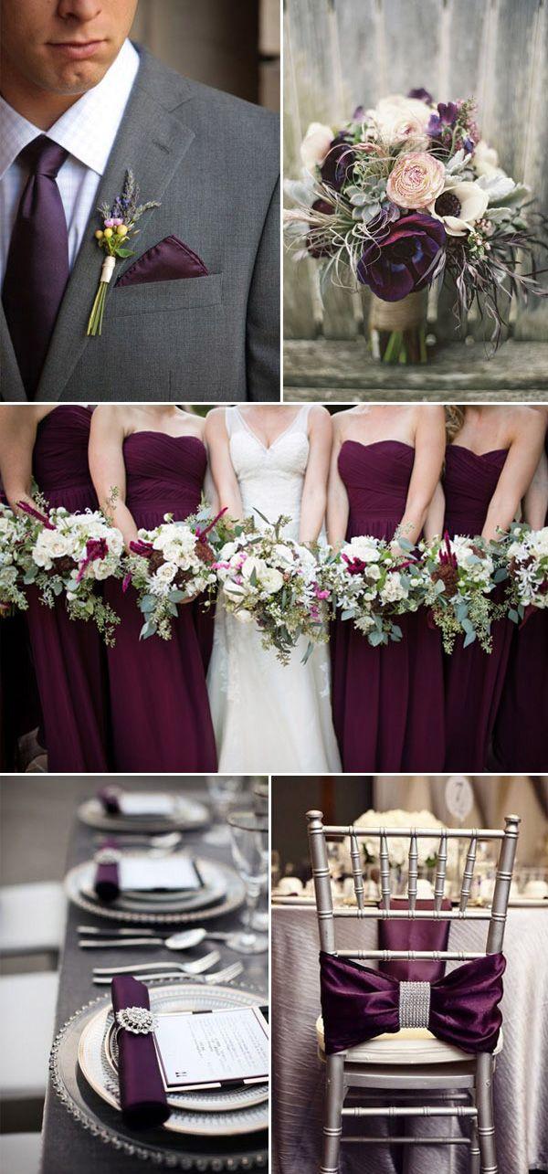 #culoarea #pruneii #gri #combinatii #culori #nunta #tendinte #2016