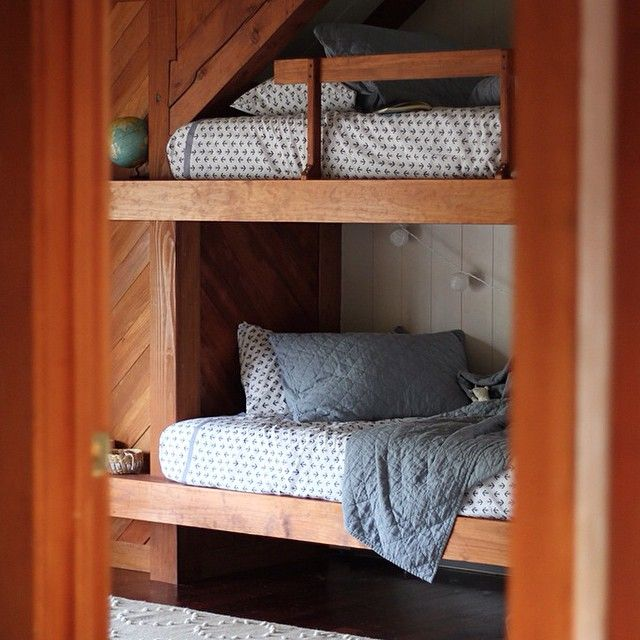 Jersey Ice Cream Co // bunk beds. More places to curl up on this gloomy day