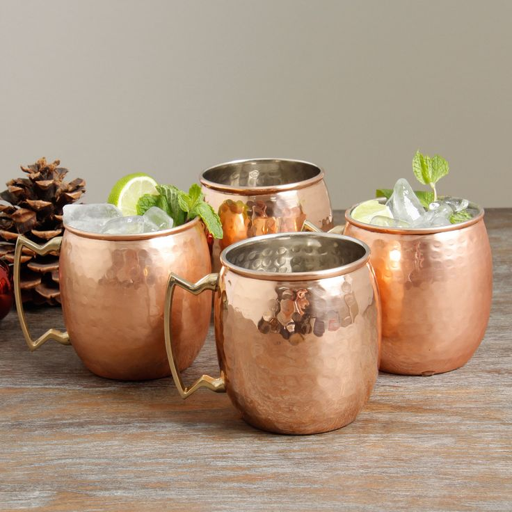 Old Dutch Hammered Copper 16-ounce Moscow Mule Mugs (Set of 4) | Overstock.com Shopping - The Best Deals on Coffee Mugs