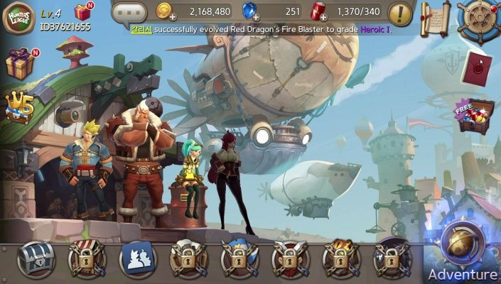 Hunters League is a Free to play Role Playing Multiplayer Game featuring Cross platform play among iOS Android and PC via Facebook Gameroom