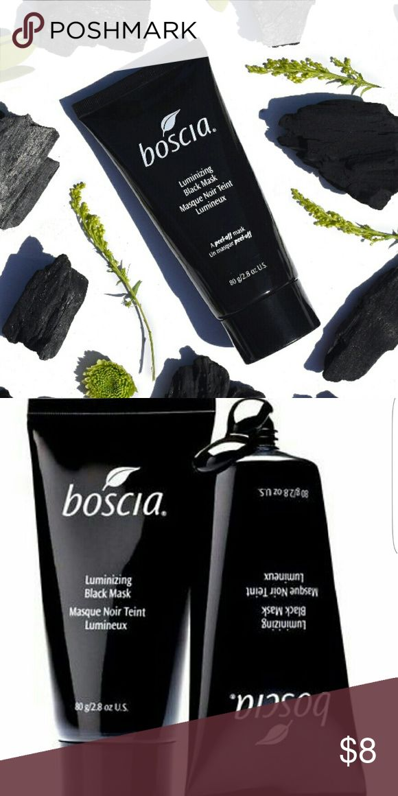 BOSCIA luminizing black mask A pore purifying peel-off mask with activated black charcoal for a visibly clearer, smoother, more clarified complexion.  Minimizes the appearance of pores, absorbs excess oil, and gently exfoliates for a bright fresh face. Rich in anti-aging vitamin C and antioxidants this formula visibly reduces hyperpigmentation, minimizes large pores, reduces fine lines and wrinkles, and combats excess oil while lifting away clogging impurities for radiant skin. Dermatologist…