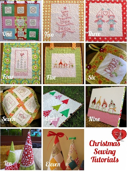 tutoriales de navidad: Christmas Crafts, Quilting Tutorials, Sewing Projects, Christmas Quilts, Free Christmas, Eleven Free, Christmas Sewing, Christmas Ideas, Sewing Tutorials