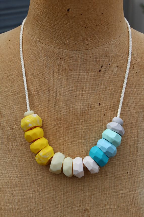Beachy Beatrice Faceted Bead Necklace by ElleryFox on Etsy