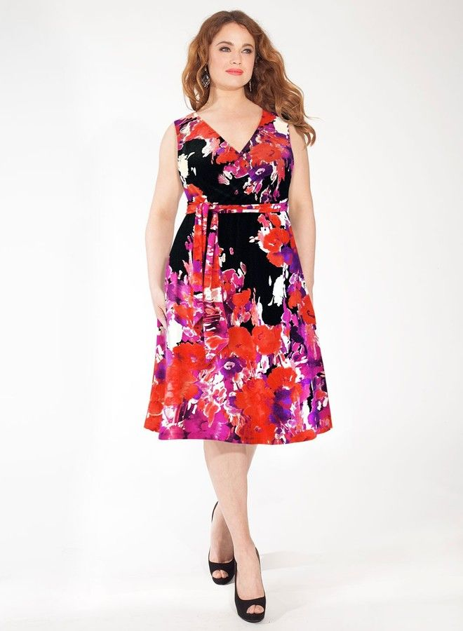Plus Size Dress in Caribbean Flush
