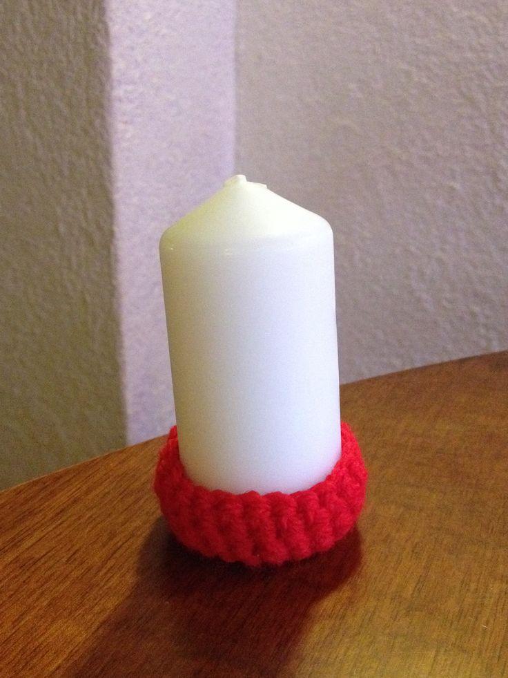 Crochet candle
