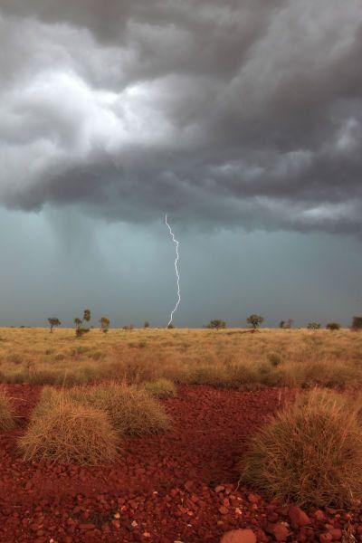 Summer storm. Australian outback.
