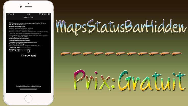 MapsStatusBarHidden cacher les icônes sur la barre d'état dans l'applica...