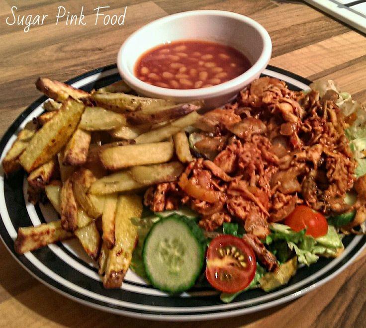 Pulled Fajita Chicken - #Chicken #SynFree #SlowCooker