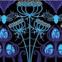 Auction Shopaholic: Gorgeous Flower and Insect Fabrics by Jane Sassaman