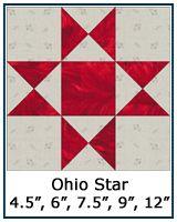 Ohio Star quilt block--several variations also