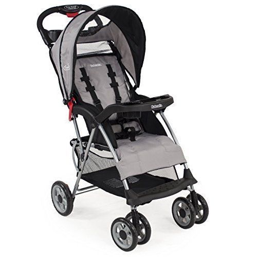 Baby Stroller Strollers Babies Infant Toddler Canopy Cup Holders Foldable Grey #BabyStroller