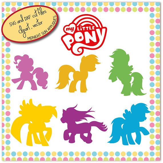 My little pony SVG my little pony silhouettes cut file dxf