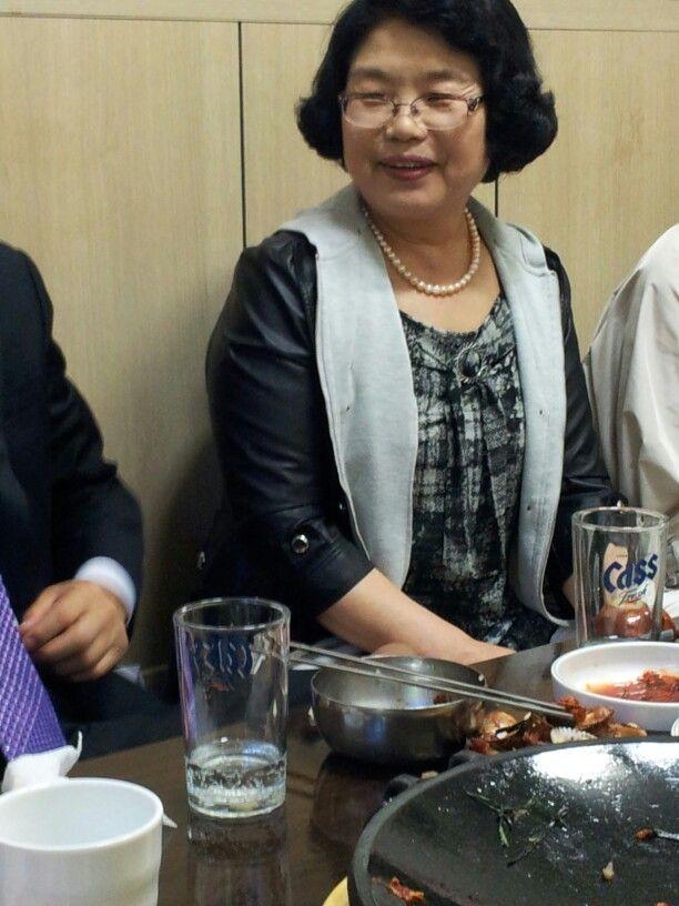 인천에서 모임 중 전옥남 영원한 선생님 모습