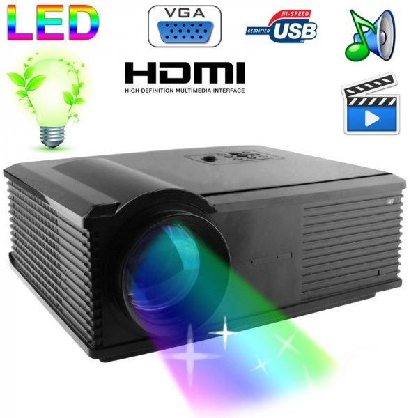 Vidéoprojecteur LED 95W 2800 Lumens Full HD 1080P Home cinema Noir - www.yonis-shop.com