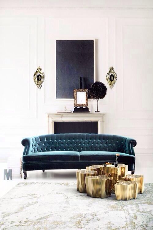 A Swoon Worthy Couch In The Prettiest Shade Of Blue. | Downtown Abbey, As.  Samt SofaWohnzimmer IdeenWohnzimmer DesignsModerne ... Ideas