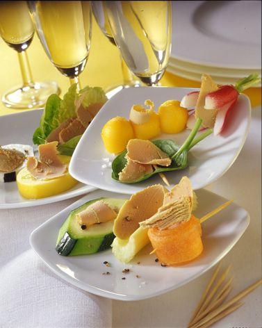 La farandole de légumes et fruits au Foie Gras #recette #foiegras