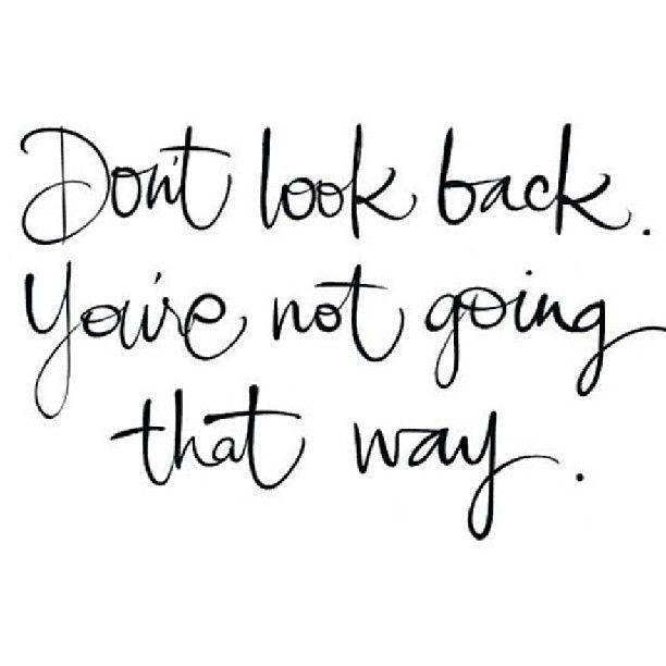 Hang-lettered // Don't look back.