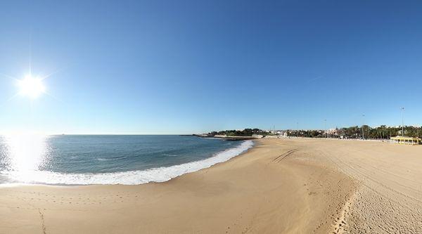 360º Virtual Visit to Praia de Santo Amaro de Oeiras, Portugal - via www.visitasvirtuais.com