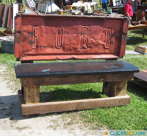 41 DIY Truck Tailgate Bench Ideas Upcycle a Rusty