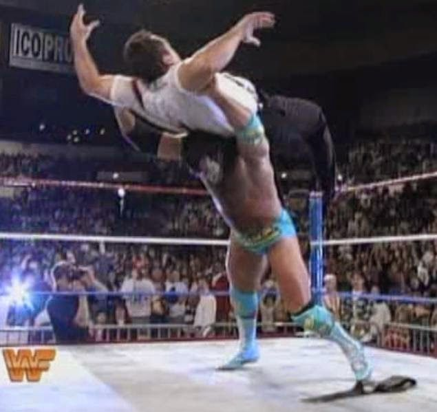 WWF / WWE ROYAL RUMBLE 1994: Razor Ramon defeated I.R.S with the Razor's Edge