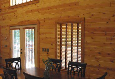 Knotty Pine Paneling - Clear UV on Ponderosa Pine Tongue and Groove