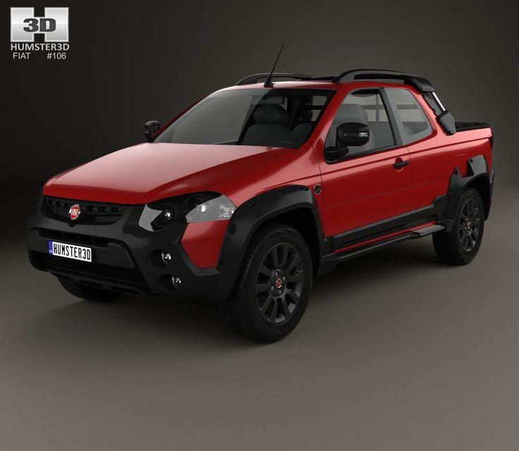 Fiat Strada Adventure CD Extreme 2015 3d model form Hum3d.com.