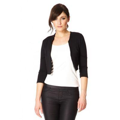 Quiz Black crop jacket- at Debenhams.com