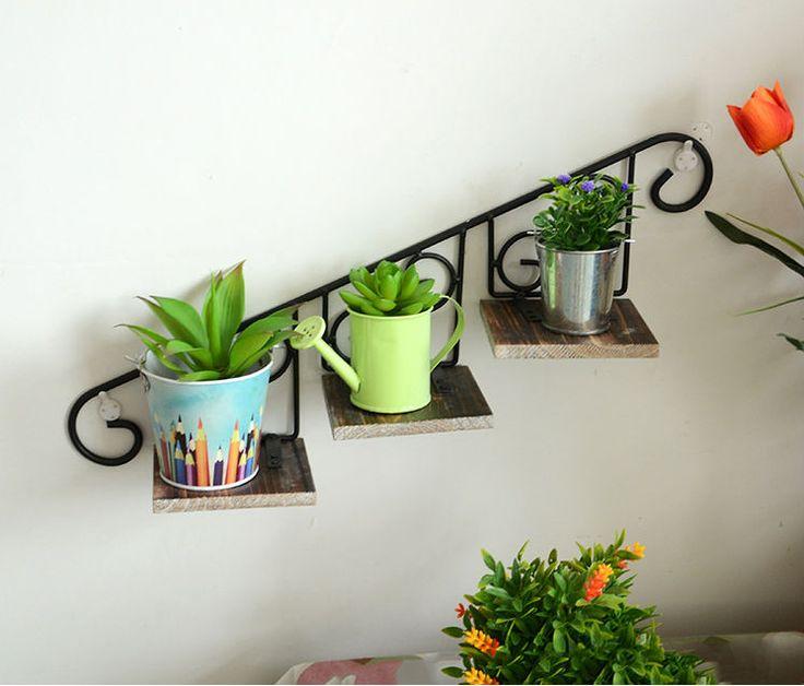 De supermercado zakka creative home ferro forjado rack de parede de suspensão, Flor decoração quadro vaso receber C1006