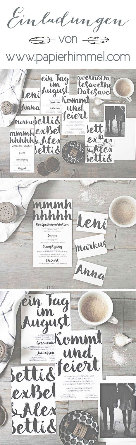 #hochzeitseinladungen von www.papierhimmel.com #einladungen, #hochzeit, #hochzeitskarten, #weddingstationery #weddinginvite #weddinginvitations #modern #design #hipster #coffee