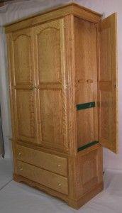 Armoir with hidden gun cabinet behind secret doors in each side
