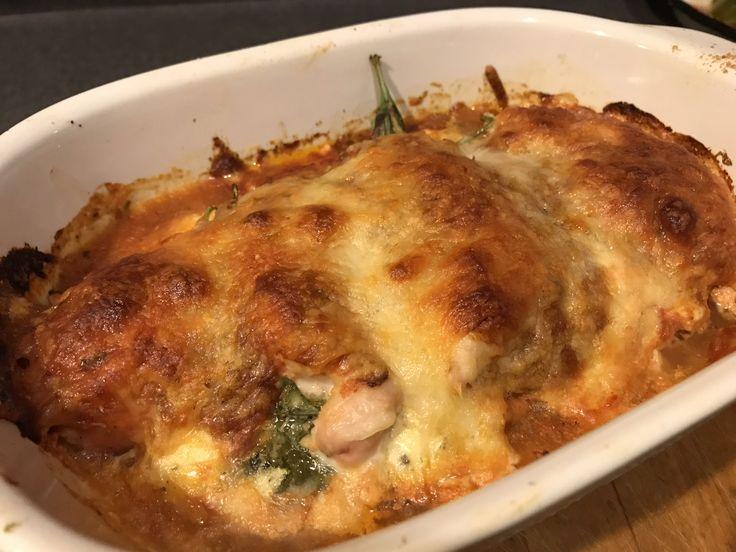 Spinach & Cheese Stuffed Chicken Marinara