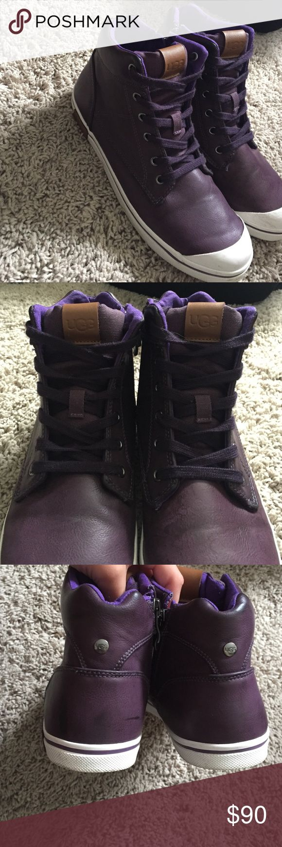UGG sneakers UGG Australia sneakers. Purple leather. Worn once. UGG Shoes Sneakers
