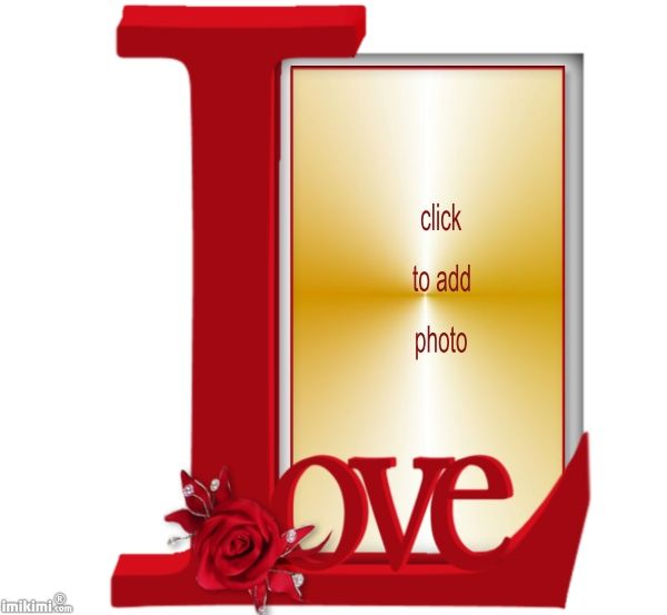 love picture frame click to add a photo to it save it and