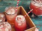 Apple, ginger and cranberry vodka cocktail