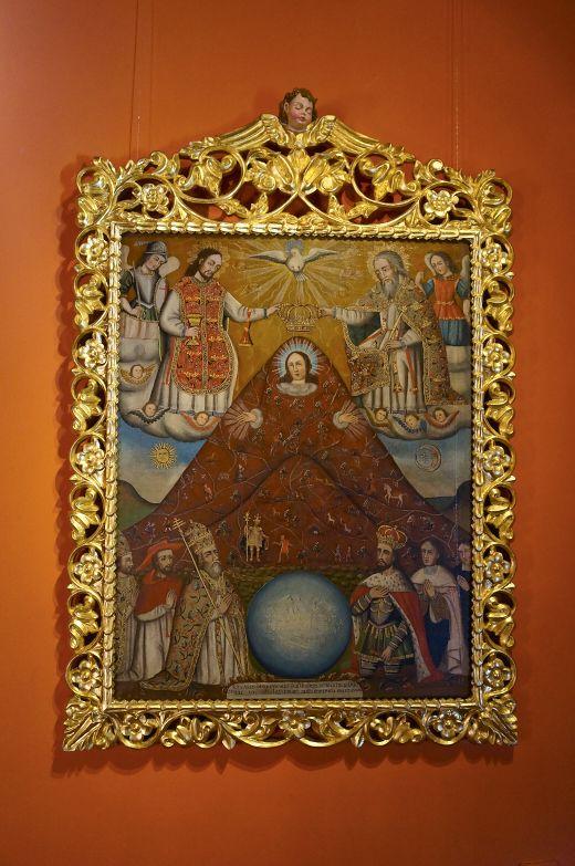 One of the beautiful paintings at Casa de la Moneda in Potosi, Bolivia