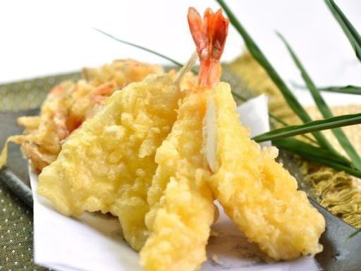 pâte a tempura oeuf, levure, fécule, farine, huile de friture, eau, sel
