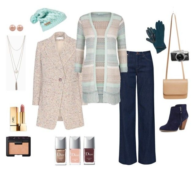 """Winter's Coming - Jeans and Pastels"" by annavaschetto on Polyvore featuring moda, Silence + Noise, Columbia, French Connection, Chloé, maurices, Sole Society, Honora, Christian Dior e NARS Cosmetics"