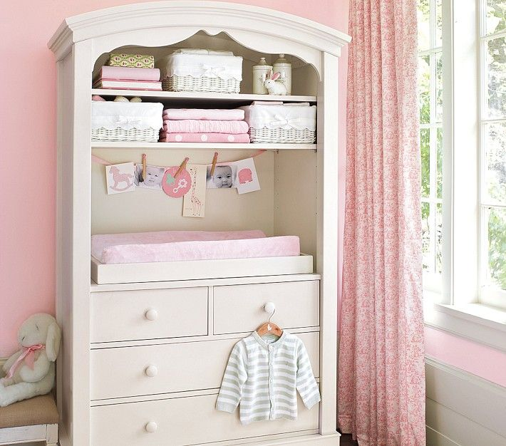 Armoire Changing Table - Use the Armoire as a diaper changing station and either take off or make use of the doors.