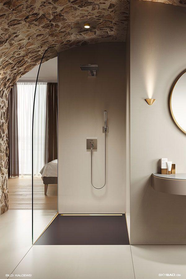 Ebenerdige Dusche Mit Sitzbank Gefliest Gemauert Und Verputzt Eine Dusche Zum Traumen Fur Bade In 2020 Mit Bildern Ebenerdige Dusche Begehbare Dusche Badezimmer Dusche Fliesen