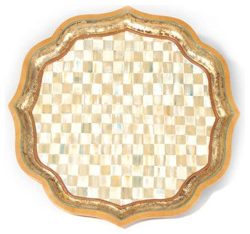 """Parchment Check Serving Tray - 25"""" 