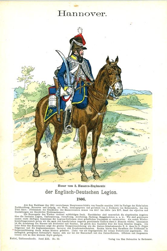⚔ 8. August 1813 – Landung des 3. Husaren-Regiments und der 2. Batterie King's German Legion in Wismar ➹