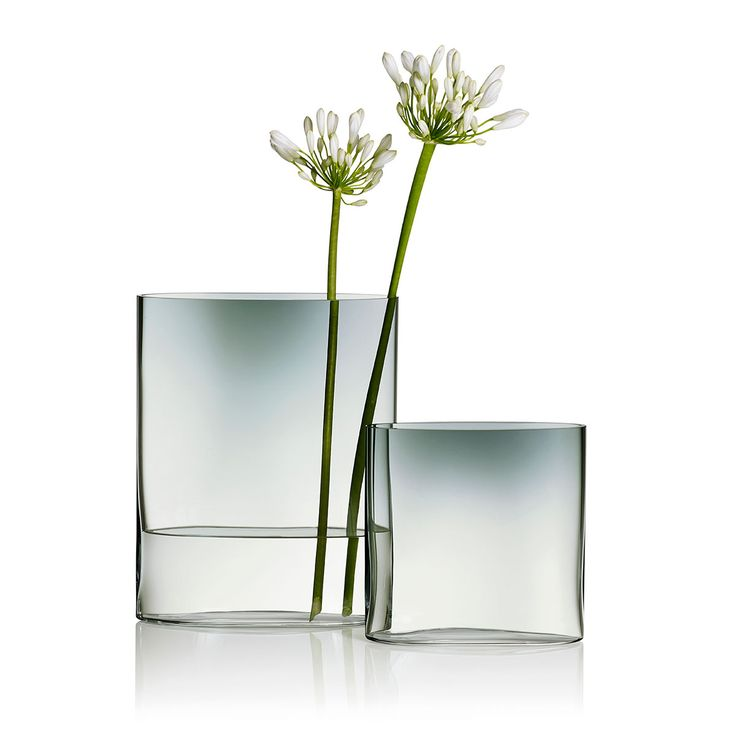 "iittala Ovalis Grey/Clear Vase — 9-3/4"" - New Arrivals"