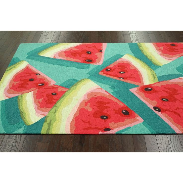 Beat the#Summer, Bring #Watermelon coolness in your home. Check Watermelon design #Rugs