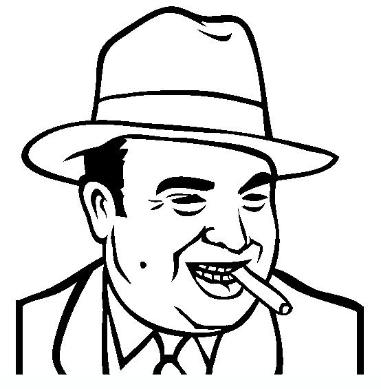 al capone famous people coloring pages