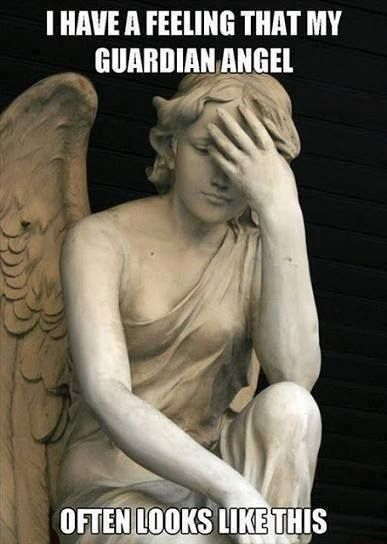 Fun and Fails Nursing Humor... Thank goodness for our guardian angels as we take care of our patients... More at Fails and Fun at our blog http://www.fails.ch