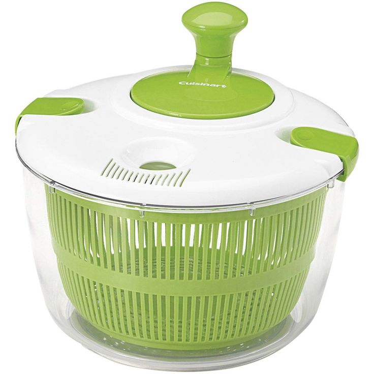 Spin Knob Salad Spinner, Blue wash (Plastic)